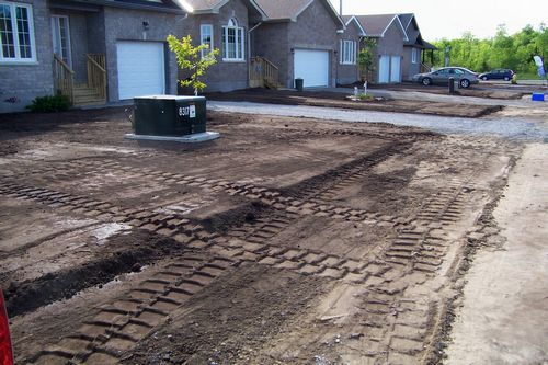 Backfilled and Graded Lot